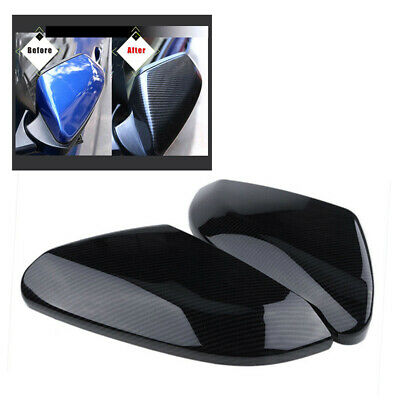 2x Side Mirror Covers For Honda Civic 10th Gen 2016-2019 Replacement 31.3*13.3cm
