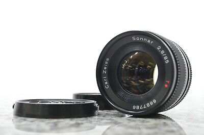 Contax Carl Zeiss Sonnar f2.8 85mm T* AEJ lens In Good Condition from Japan