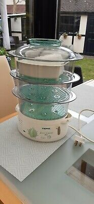 Tefal electric 3 tier steam cuisine food steamer 1000cl with rice bowl