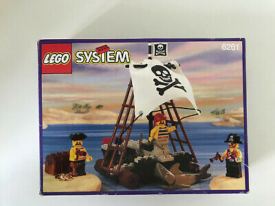 LEGO Vintage Pirates 6261 Raft Raiders 99% Completed Box Instruction