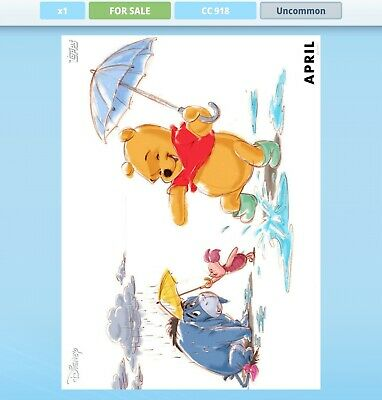 Topps Disney Collect VIP Silver Card April Winnie the Pooh Seasons Digital Card