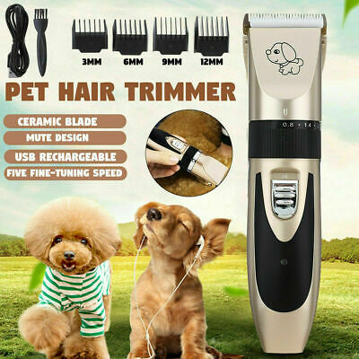 Pet Dog Clipper Grooming Trimmer Animal Hair Professional Electric Shaver Kit Z