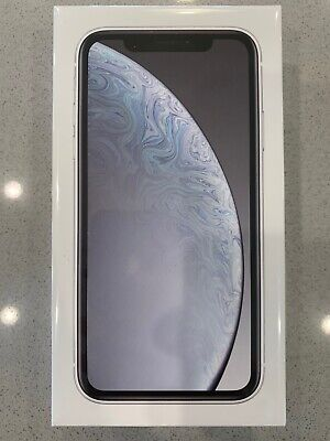 Brand New NO Reserve Apple iPhone XR - 128GB - White (AT&T) A1984 (CDMA + GSM)