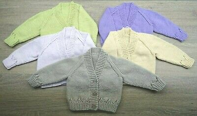 up to 3 months New Hand Knitted Baby Girl Cardigans 14lbs
