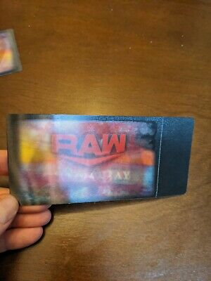WWE Raw 3D Ticket Stub Rare Commemorative  Souvenir Tampa Bay April 6th,2020