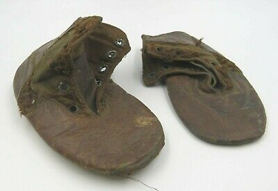 Antique Pair of Small Leather Child's Shoes