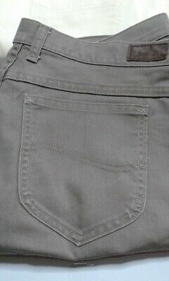 Womens Lee Relaxed At The Waist Jeans Brown Khaki Size 16M