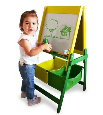CRAYOLA Double Sided Children's Wooden Art Easel with Creative Accessories Set