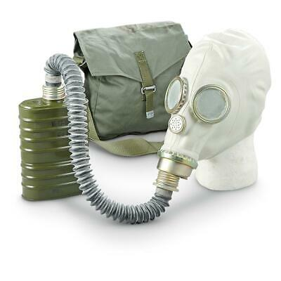 Polish Military NOS Surplus Gas Mask Kit OM-14 W/ Hose, Filter & Canvass Bag