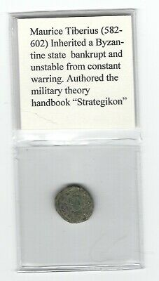 Ancient Byzantine Bronze Coin, Justin II