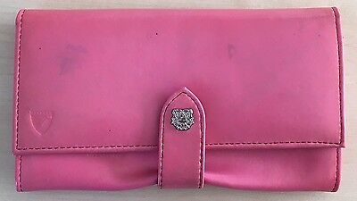 Aspinal Of London Leather Pink Patent Ladies Purse Wallet. Classic and timeless