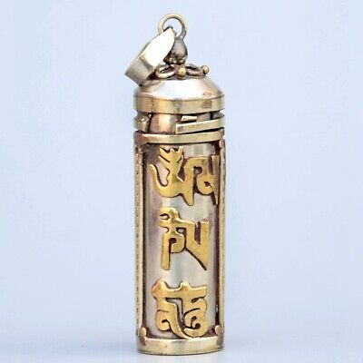 Collectable China Old Bronze Hand Carve Special Character Moral Exorcism Pendant