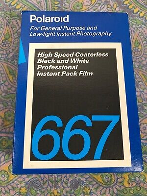 POLAROID 667 B&W Instant Pack Film, 32 Photos (2 PACKS: 16) , Expired 06/1992