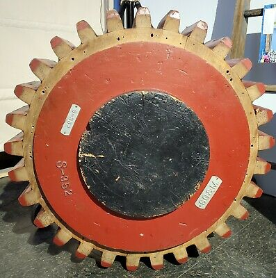 Large Wood Wooden Foundry Industrial Pattern Machinery Gear Mold Steampunk