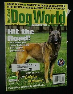 Dogs World Illustrated Magazine Malinois Cover + Photos & Articles Apr. 2005