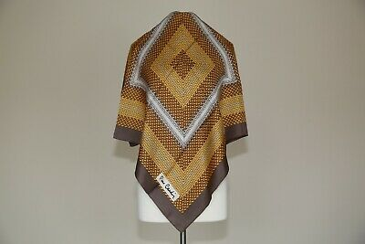 Highly Collectible Pierre Cardin silk twill scarf vintage designer Square Gift