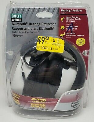 Safety Works - Bluetooth Hearing Protection SWX00260 - AM/FM/MP3