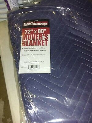 MOVING BLANKET New in Pkg 72 x 80  Double Stitch Free Ship Haulmaster Blanket