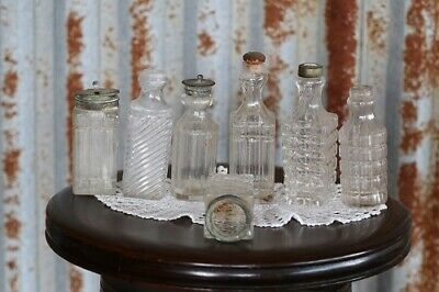 Antique Collectable Old Decorative Cruet Bottles -  Great Display Pieces