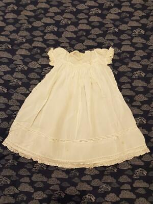 Vintage 50s/60s Baby Dress Christening Gown Embroidered Lace Handmade Preowned