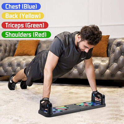 11 in 1 Magic Push-up Board Training System Muscle Training with Resistance Band