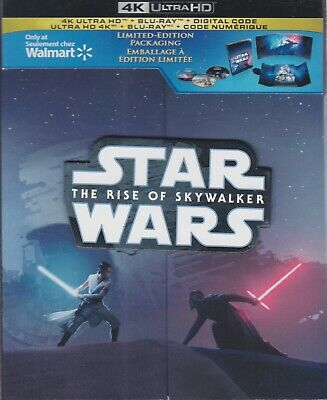 Star Wars The Rise Of Skywalker 4K Ultra Hd & Bluray & Digital Limited Ed. Set