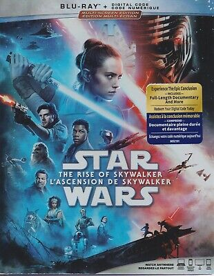 STAR WARS THE RISE OF SKYWALKER BLURAY & DIGITAL SET with Billy Dee Williams