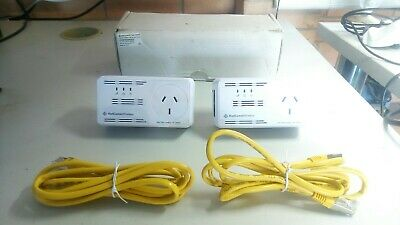 NetComm NP505F Powerline Adapters With AC Pass-Through 500 Mbps