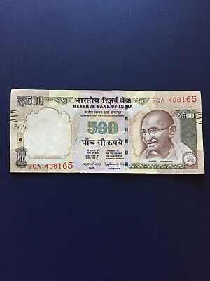 Indian Rupee 500 Denomination Bank Note. Ideal For Collection.