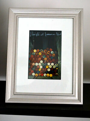 Christo  Oil Barrels ORIGINAL hand signed framed 29 x 23 cm