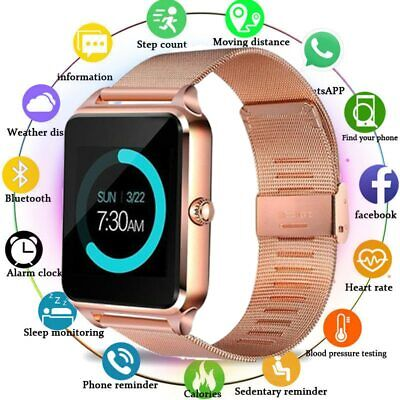 GT08 Smart Watch Metal Clock With Sim Card Slot Push Message Bluetooth Fitness
