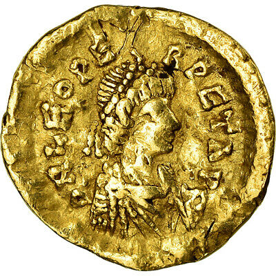 [#658843] Coin, Leo I, Tremissis, 471-473, Constantinople, VF, Gold, RIC:635a
