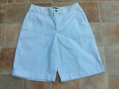 Boys Polo Ralph Lauren White Classic Polo Chino Shorts Size: 10 - Age: 8 years