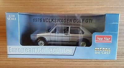 Volkswagen Golf GTI 1976 - Sun Star 1:18 / silber / VW / Item 1091 / no 1:43