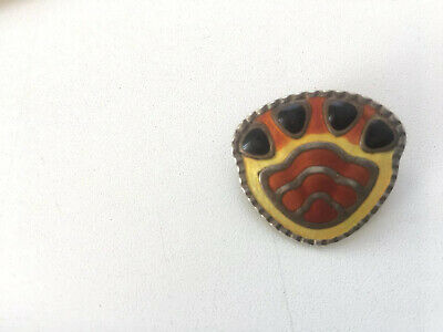 J Tostrup Norway Monster Beskyttet Vintage Sterling Silver Enamel Unusual Pin