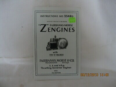 "Fairbanks,Morse ""Z""  engines w. type ""R"" magneto Instructions Book & Parts list"