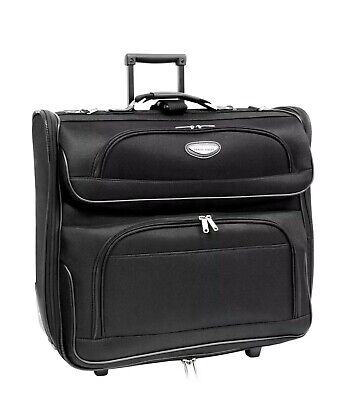 TRAVEL SELECT***BLACK GARMENT ROLLING BAG with WHEELS***Traveler's Choice