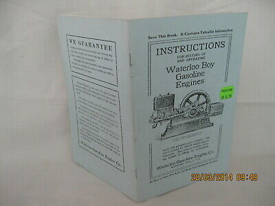 Waterloo Boy Gasoline Engines Instructions Book & Parts list