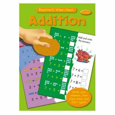Childrens Learning Books Beginner's Wipe Clean A4 Educational Maths ADDITION