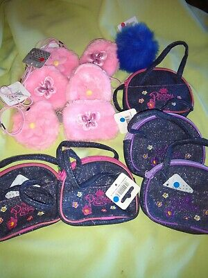 Job lot of little girls purses,5 sparkly princess purses,6 pink fluffy purses