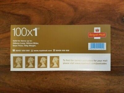 Sheet of 100 x Royal Mail 1st / First Class Self Adhesive Stamps