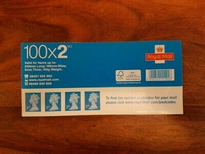 Sheet of 100 x Royal Mail 2nd / Second Class Self Adhesive Stamps