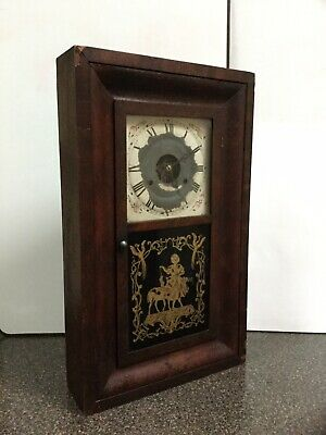 Antique SETH THOMAS Clock W/ Wood Case/Weight-Driven/Not Working