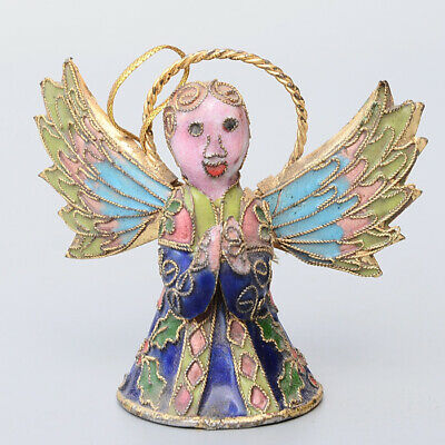 Collect China Old Cloisonne Hand-Carved Fairy Delicate Bring Luck Decor Statue