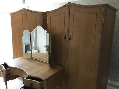 Walnut Cabinet Works Wardrobes X2 (Gents And Ladies) + Dressing Table