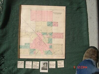 Vtg. 1911 Plat Map Wittenberg Wisconsin Wi Wis Chicago Northwestern Rr Lumber Co