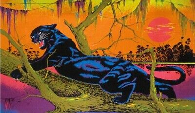 new! 1970s Black Panther black light poster replica magnet