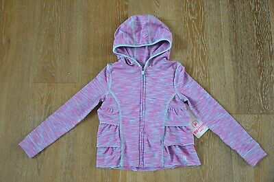 90 DEGREE by REFLEX Girls Athletic Ruffle Hoodie Size 5-6 NWT