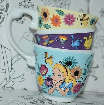 Disney Store Alice in Wonderland Stacked Mug tea cup Rabbit