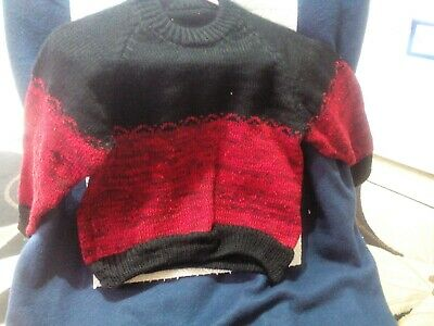 """20"""" acrylic childs jumper. Black/ red"""